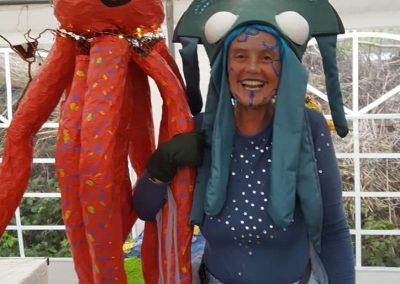 Tintenfisch und Oktupus